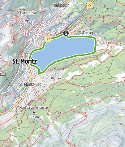 Karte / Rund um den St. Moritzer-See