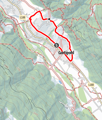 Map / Montafonerhausweg Gortipohl