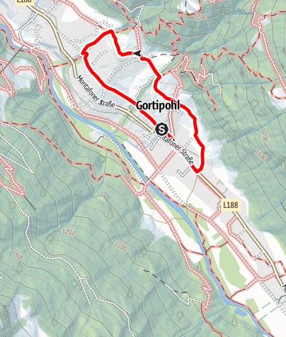Kaart / Montafonerhausweg Gortipohl