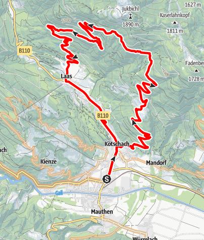 Karte / KM1 - Stelzling-Laas