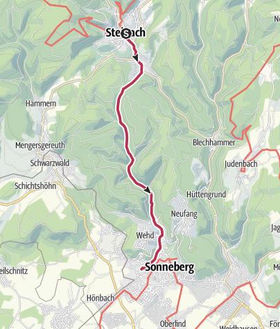 Map / 7 Tage Wandern in Coburg.Rennsteig | Etappe 2