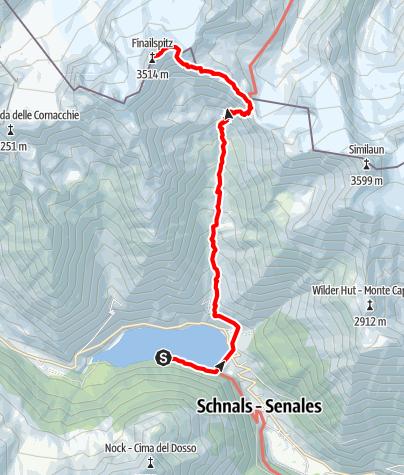 Map / Hiking Tour to Finail summit