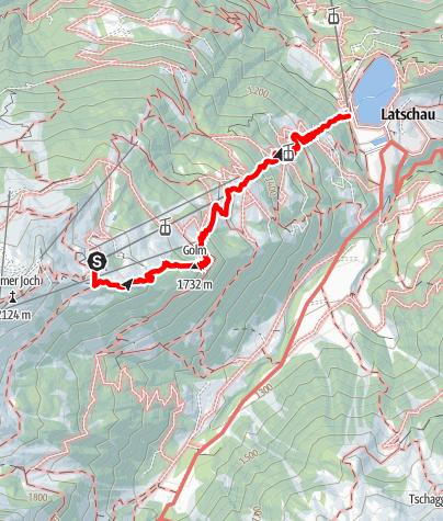 Map / Erlebnisweg Golm