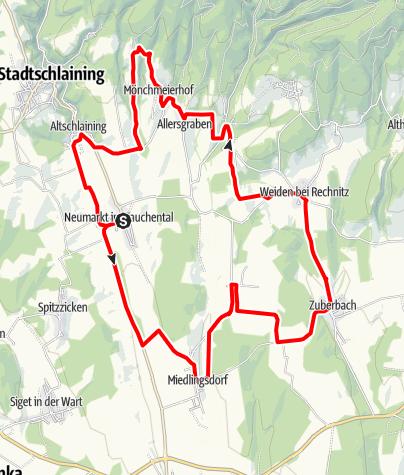 Karte / B52 - St. Martin Panoramaradweg