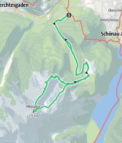 Karte / Watzmann Wiederroute