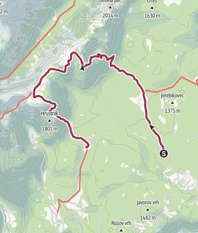 Map / Walk to Pokljuka