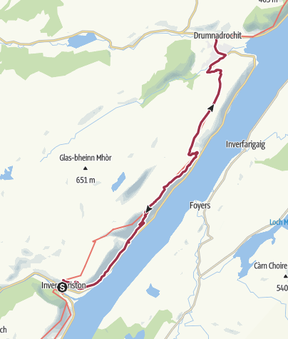Map / Invermoriston to Drumnadrochit (Low Route)