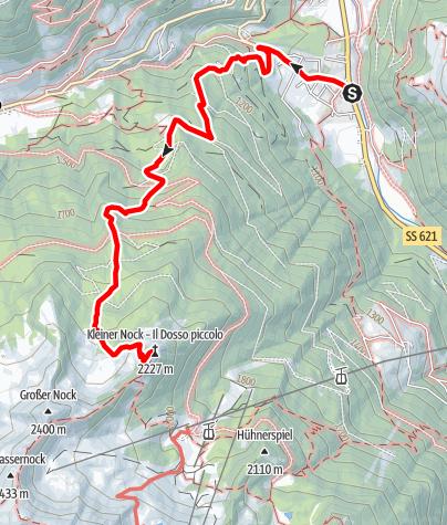 Mappa / Tour in montagna al monte Kleiner Nock