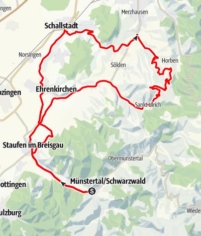Karte / Willkommenstour zum Schwarzwald Super! 2019