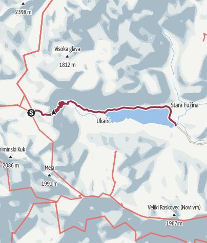 Map / Komna Hut to Lake Bohinj