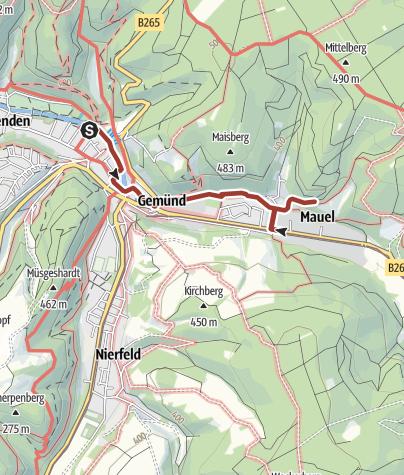 Karte / Nordeifel: Eisenwanderweg (19) Gemünd