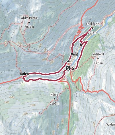 Karte / Venter Runde & Feldkögele