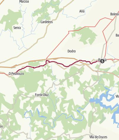 Map / Wanderung von Arzúa nach Pedrouzo