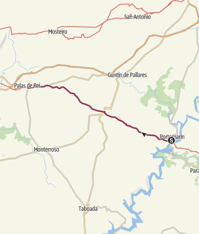 Map / Wanderung von Portomarin nach Palas de Rei
