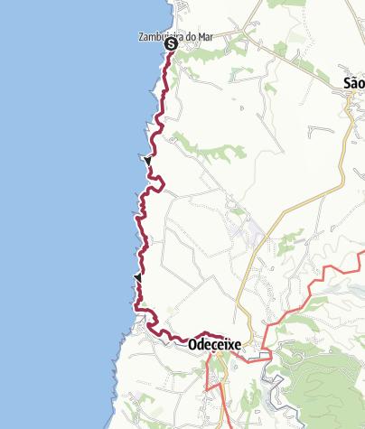 Map / Zambujeira do Mar to Odeceixe