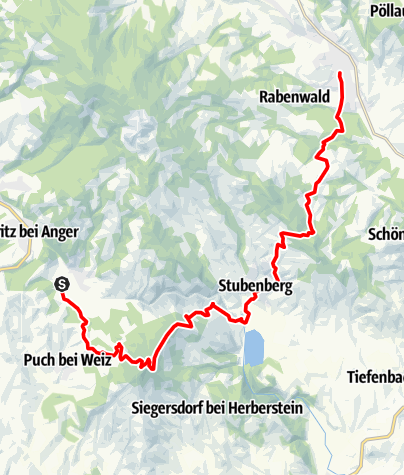 Karte / Etappe 5 Wechselbergland-Höhenweg: Lebing - Kulm - Stubenberg am See - Pöllau