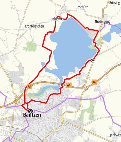 Mapa / Radeltour 5 - Der Stauseerundweg