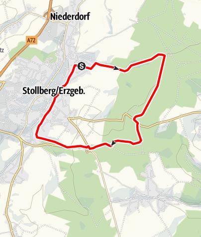 Karte / Stollberger Talsperrenradrunde