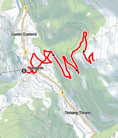 Map / Segantinis E-Bike Tour