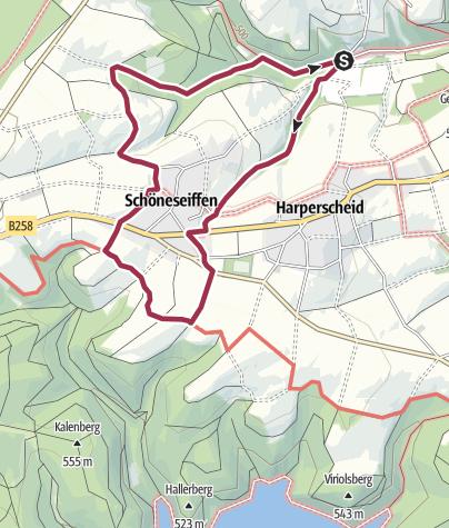 Karte / Nordeifel: Rund um Schöneseiffen (33)