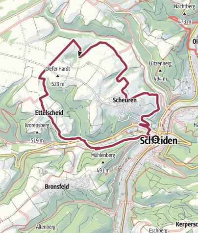 Karte / Nordeifel: Höhen-Tour (21) Schleiden