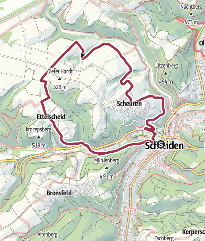 Carte / Nordeifel: Höhen-Tour (21) Schleiden