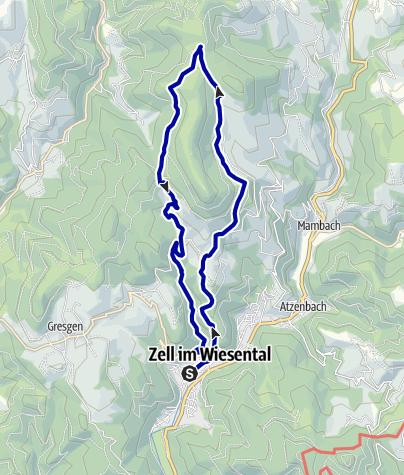 Karte / Rund um den Zeller Blauen