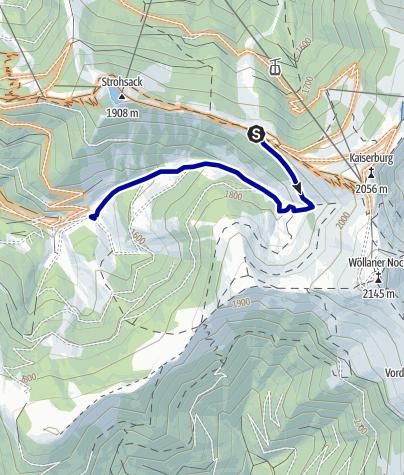 Karte / Rossalmhüttentrail | nock/bike Trail T8