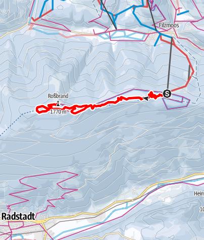 Karte / Höhenloipe Rossbrand