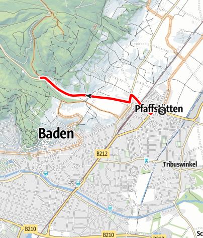 Karte / Zubringer Pfaffstätten - Einöde