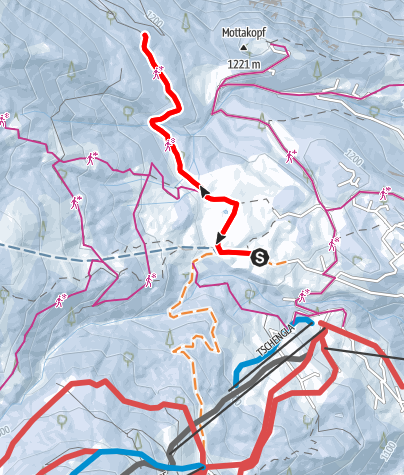 Karte / Plandedonweg | Bürserberg