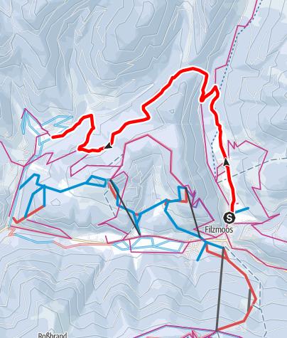 Karte / Marcheggsattel Verbindungsloipe