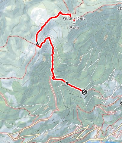 Map / Alpine Tour to the Peilstein Mountain