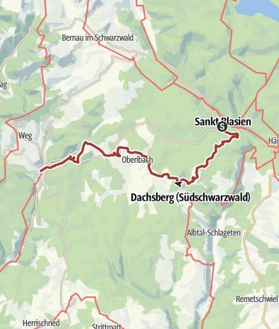 Karte / Dachsberg-Ibach: Schluchtensteig Schwarzwald, 5. Etappe