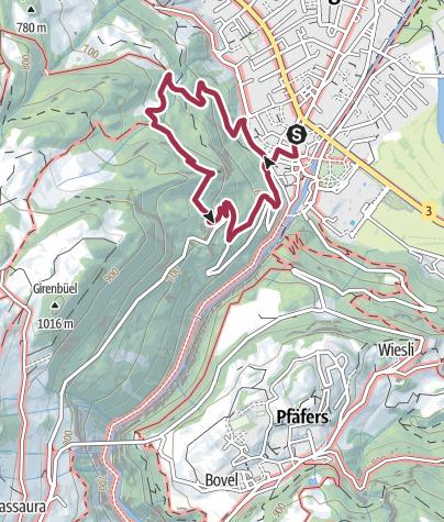 Map / Circular hike Guschachopf