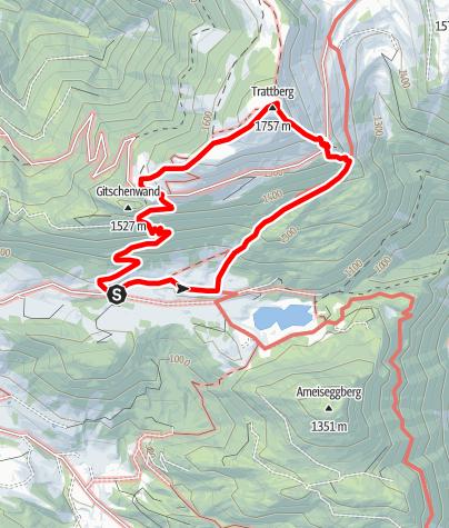 Karte / St. Koloman: Trattberg über Panoramasteig