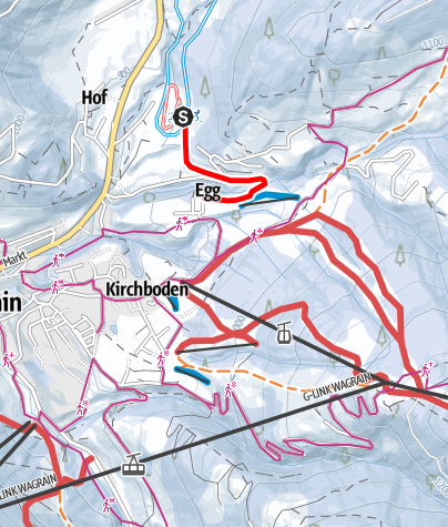Karte / B - Verb. Loipe Kirchboden