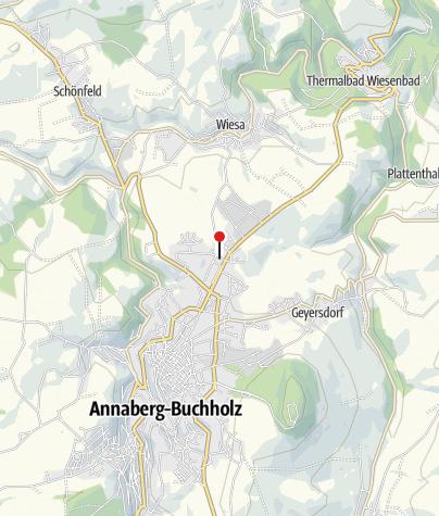Karte / Annaberg-Buchholz, Einmündung B 101