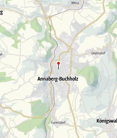 Karte / Annaberg-Buchholz, Sparkasse/Annenkirche