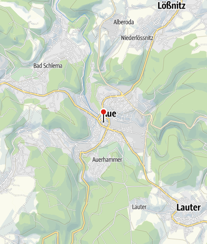 Karte / Aue, Postplatz