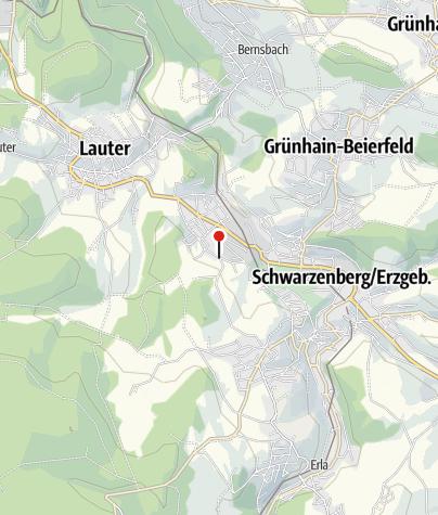 Karte / Schwarzenberg, Auer Str/Abzw Vorderhenneberg