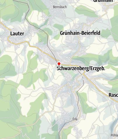 Karte / Schwarzenberg, Zum Eisenbahnmuseum