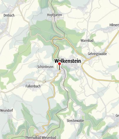 Karte / Wolkenstein, Bahnhof/B101