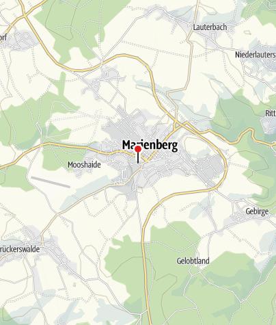 Karte / Marienberg, Kaufhalle Edeka