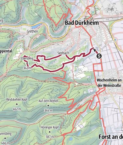 Carte / Bad Dürkheim - Türme und Klöster zwischen Wein und Wald