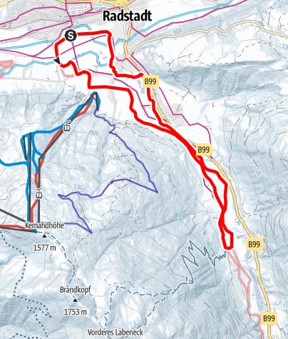 Karte / Taurach Loipe