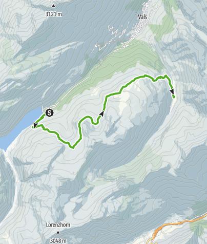 Map / 3-Lakes Hike