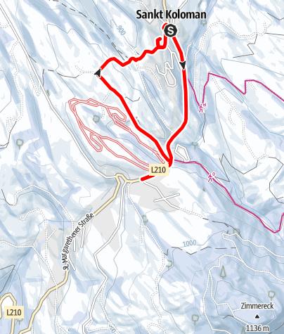 Karte / St. Koloman: Taugler Mundartkreuzweg