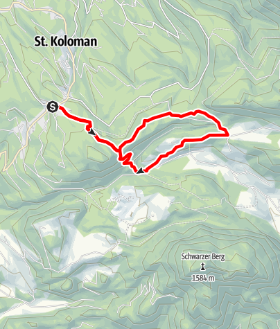 Karte / St. Koloman: Zimmereck - Wilhelmskapelle - Putzen
