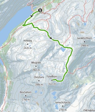 Map / Fanellahorn 3124 m